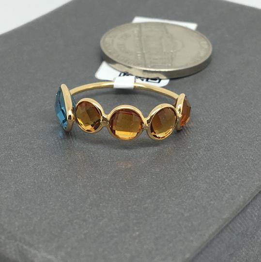 other 18K Yellow Gold Natural Citrine and Topaz Bezel Set Ring Image 3