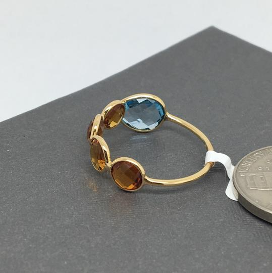 other 18K Yellow Gold Natural Citrine and Topaz Bezel Set Ring Image 4
