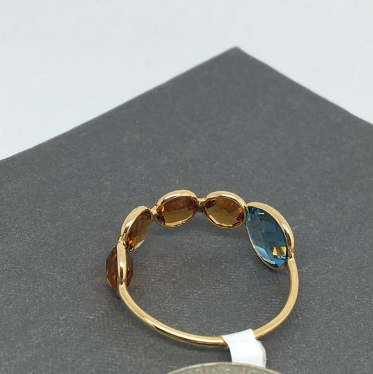 other 18K Yellow Gold Natural Citrine and Topaz Bezel Set Ring Image 5