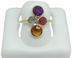 other 18K Yellow Gold Natural Multi-Stone Ring