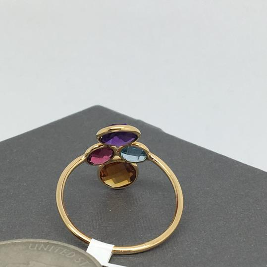 other 18K Yellow Gold Natural Multi-Stone Ring Image 4