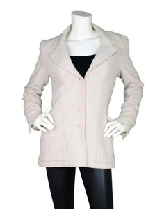 Chanel Tweed Jacket Button Down Classic Pink Blazer