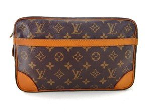 Louis Vuitton Vintage Compiegne 28 Monogram Canvas Leather Makeup Travel Dopp Bag