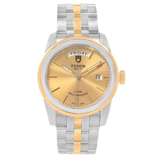 Tudor Tudor Glamour Day Date Steel Yellow Gold Mens Watch 56003 Image 1