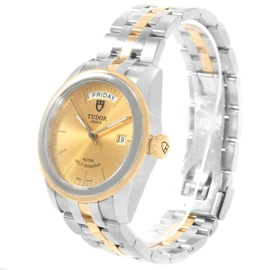 Tudor Tudor Glamour Day Date Steel Yellow Gold Mens Watch 56003 Image 3