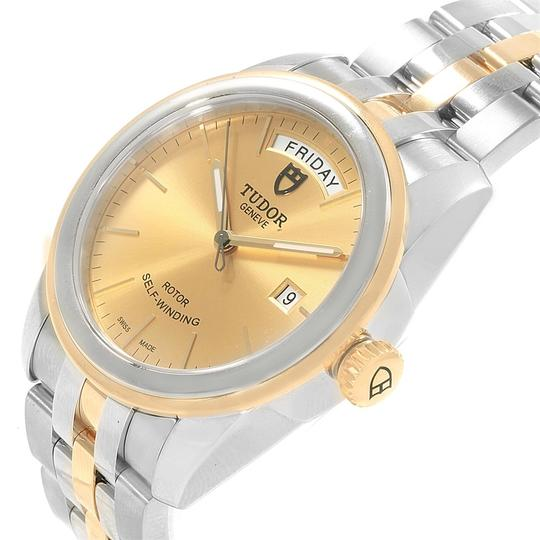 Tudor Tudor Glamour Day Date Steel Yellow Gold Mens Watch 56003 Image 4