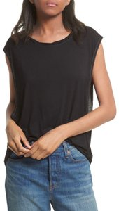 Free People Sleveless Muscle Top Black
