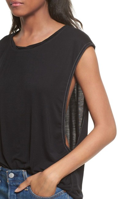 Free People Sleveless Muscle Top Black Image 1