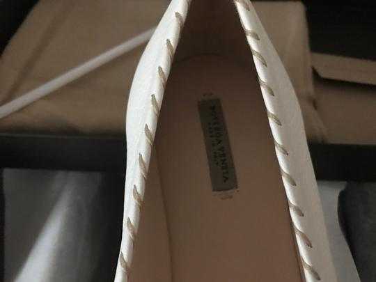 Bottega Veneta Leather Leather White Flats Image 2