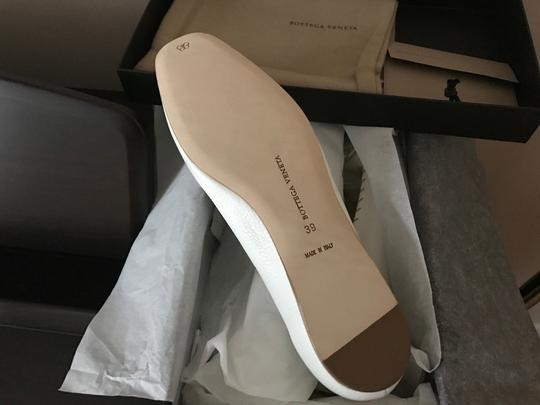 Bottega Veneta Leather Leather White Flats Image 4