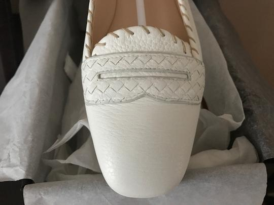Bottega Veneta Leather Leather White Flats Image 5