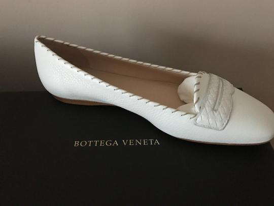 Bottega Veneta Leather Leather White Flats Image 6