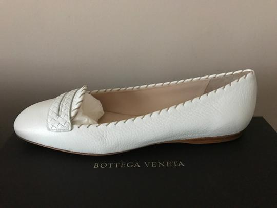 Bottega Veneta Leather Leather White Flats Image 7
