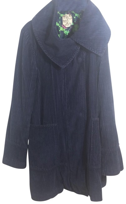 Item - Blue Corduroy Trench Coat Size 12 (L)