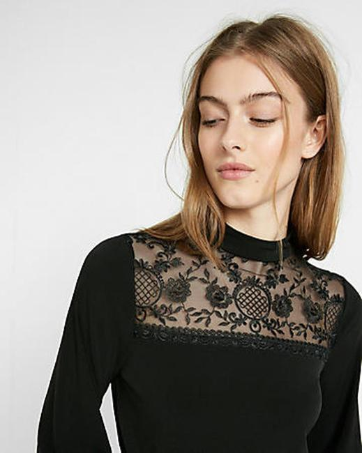 Express Fashion Top Black Lace Image 2