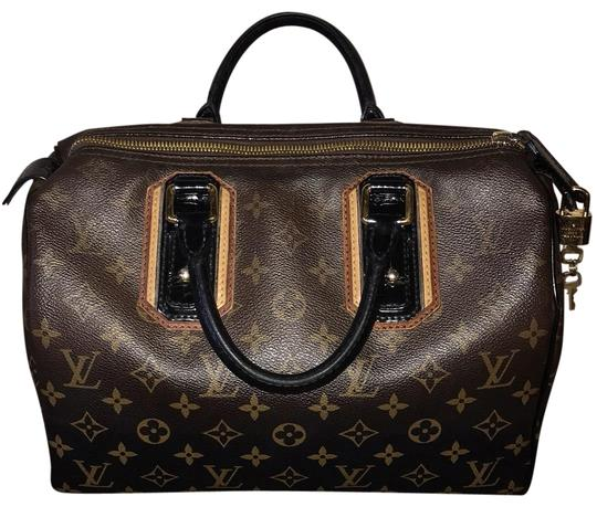 Preload https://img-static.tradesy.com/item/24034817/louis-vuitton-speedy-limited-edition-mirage-noirblack-leather-coated-canvas-satchel-0-1-540-540.jpg