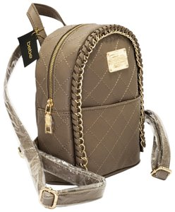 bebe Smooth Zippers Limited Edition Monogram Badges Unique Stitching Backpack