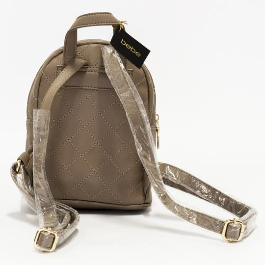 bebe Smooth Zippers Limited Edition Monogram Badges Unique Stitching Backpack Image 2