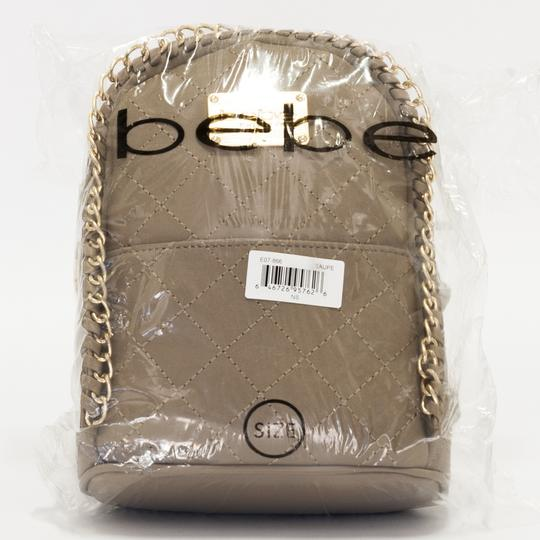 bebe Smooth Zippers Limited Edition Monogram Badges Unique Stitching Backpack Image 3