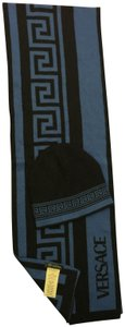 Versace Versace Black and blue Scarf / Hat Set