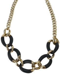 Alexis Bittar ALEXIS BITTAR Gray Black Frosted Gold Chain Link Adjustable Necklace