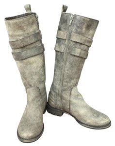 Matisse Leather Grey Boots