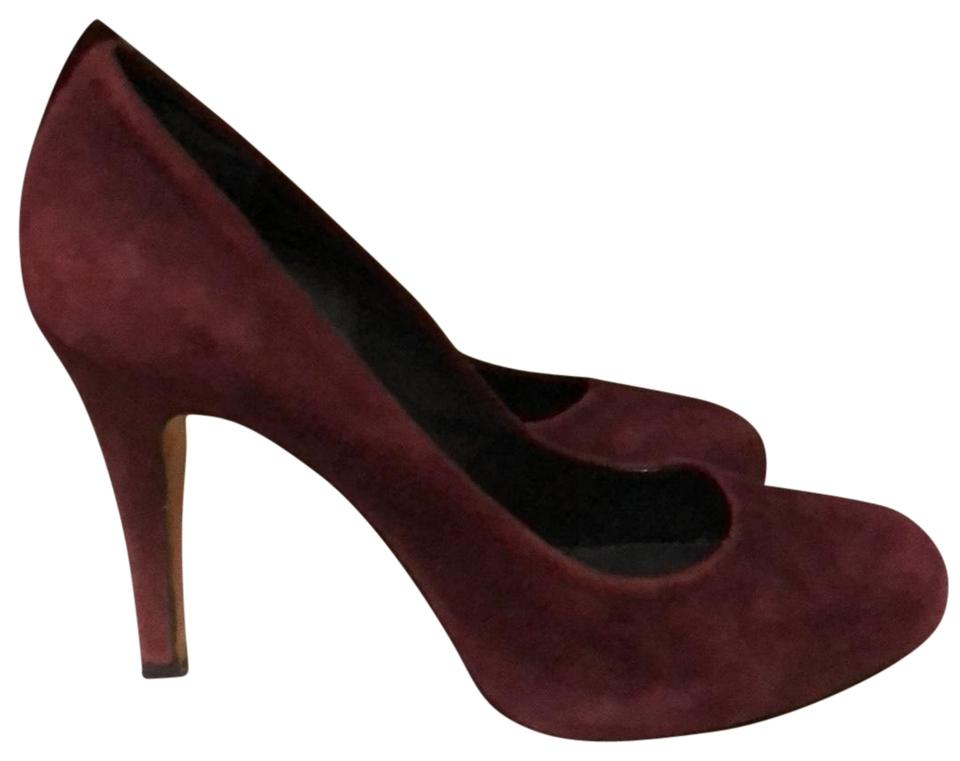 Saks Ave Fifth Avenue Maroon Suede Ave Saks Heels Pumps ee6986