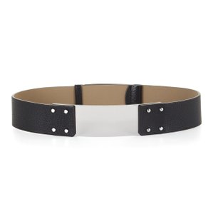 BCBGMAXAZRIA BCBG Black Faux Leather Wide Belt