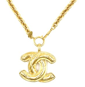 Chanel Rare XXL Extra Large CC Timeless Quilted Long gold chain necklace