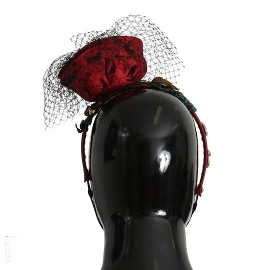 Dolce&Gabbana D31623 Women's Red Roses Floral Crystal Silk Headband (One Size) Image 2