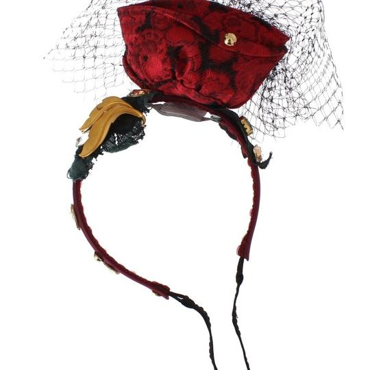 Dolce&Gabbana D31623 Women's Red Roses Floral Crystal Silk Headband (One Size) Image 5