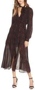 black/burgundy Maxi Dress by ASTR