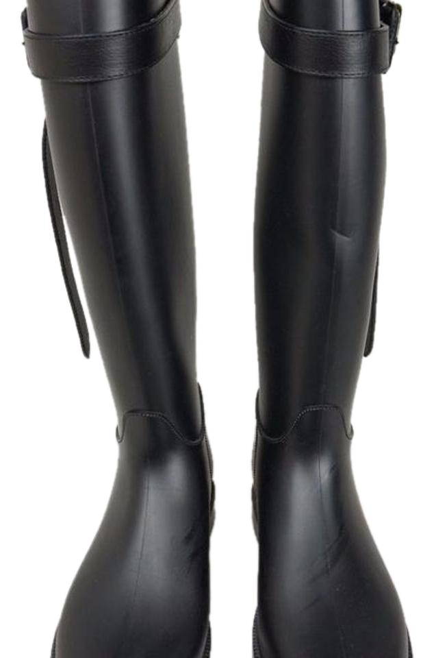 women Burberry Black Rubber Rain Boots/Booties Let our the goods go out into the our world 7fa0fe