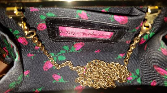 Betsey Johnson Embellished Faux Leather Sequin Night Out Box black Clutch Image 4