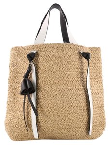 Céline Straw Tote in Brown