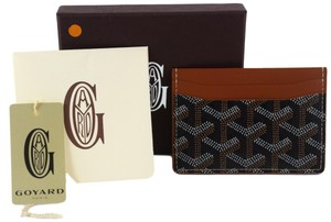 Goyard Goyard Black & Tan St Sulpice Credit Card Holder