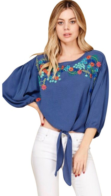 Preload https://img-static.tradesy.com/item/24035375/annabelle-embroidered-floral-bottom-blouse-size-8-m-0-1-650-650.jpg