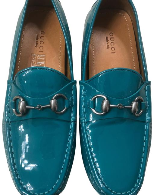 Item - Teal Patent Leather Loafers Flats Size EU 37 (Approx. US 7) Regular (M, B)