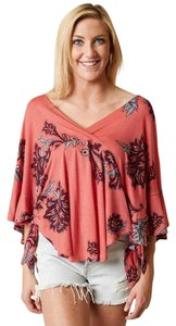 Free People Mauie Wowie Palm Top Coral