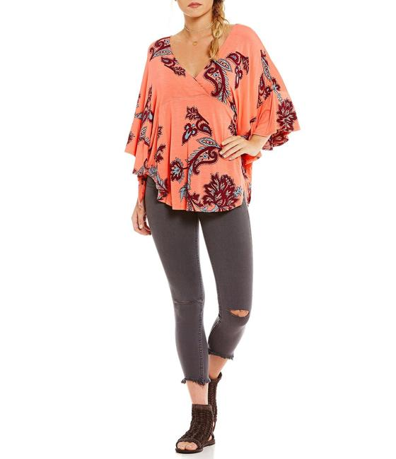 Free People Mauie Wowie Palm Top Coral Image 1