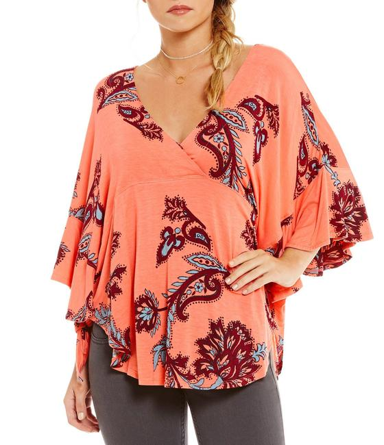 Free People Mauie Wowie Palm Top Coral Image 2