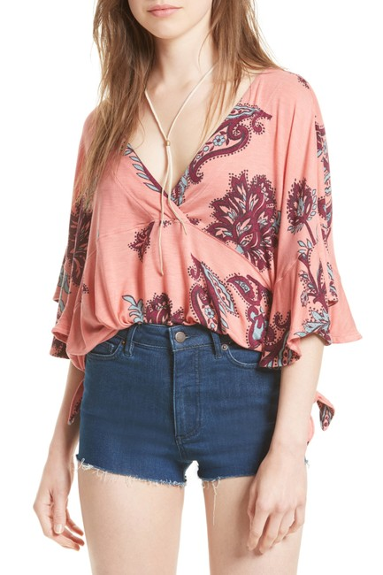 Free People Mauie Wowie Palm Top Coral Image 3