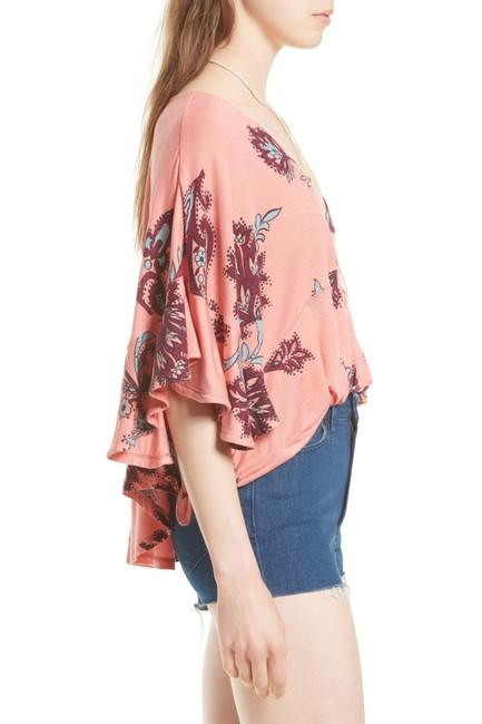 Free People Mauie Wowie Palm Top Coral Image 4