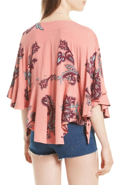 Free People Mauie Wowie Palm Top Coral Image 7