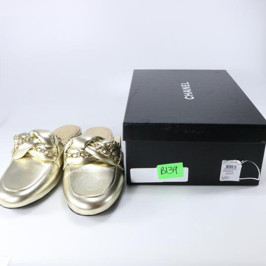 Chanel Braided Chain metallic, light gold, gold, Mules Image 1
