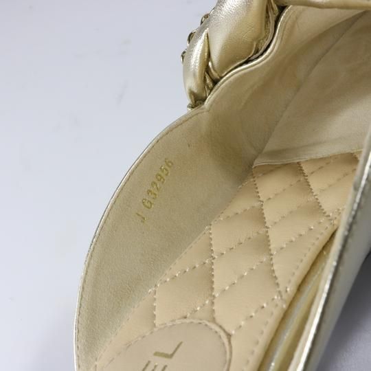 Chanel Braided Chain metallic, light gold, gold, Mules Image 6