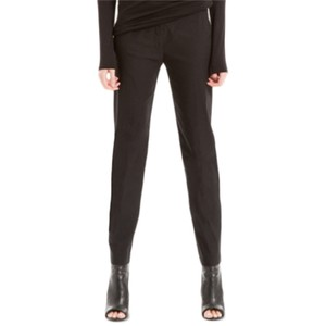 Max Studio Ankle Casual Straight Pants Black