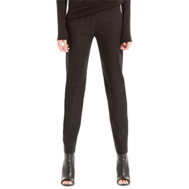 Max Studio Ankle Casual Straight Pants Black Image 2