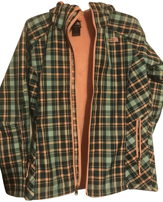 Item - Plaid Green and Pink Lined with Hoodie Coat Size 8 (M)
