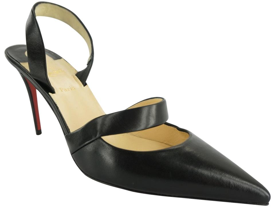 Christian Louboutin Classic Formal Party Red Bottom High Heels Black Pumps  Image 0 ...